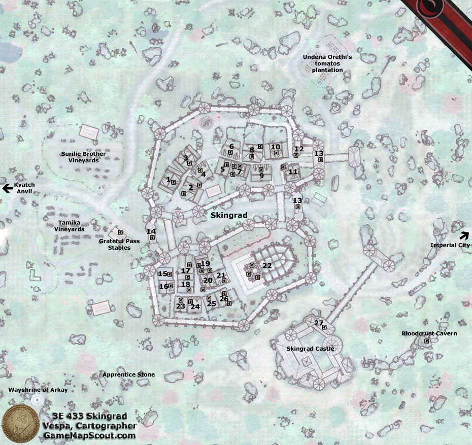 Map of Skingrad